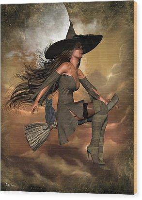 Witch Way  Wood Print