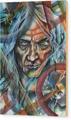 Witchdoctor Wood Print by Robert  Nelson