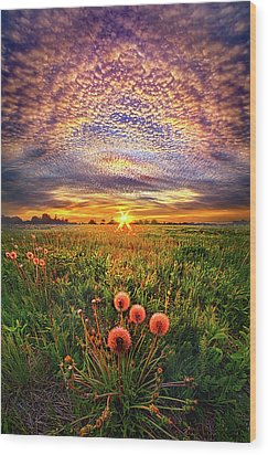 Wood Print featuring the photograph With Gratitude by Phil Koch