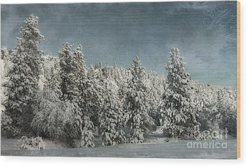 With Love - Winter  Wood Print by Beve Brown-Clark Photography