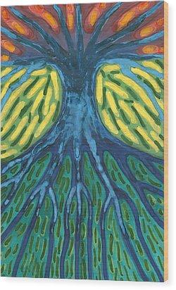 Without Light Wood Print by Wojtek Kowalski