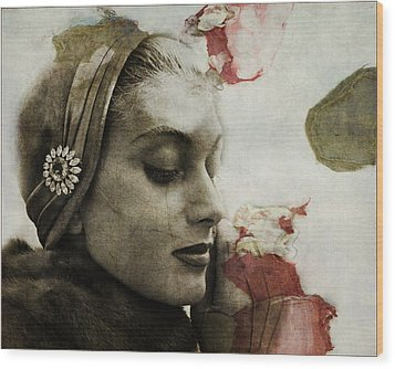 Wood Print featuring the mixed media Without You  by Paul Lovering