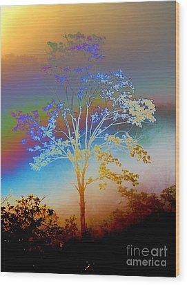 Witness Tree Wood Print by Jesse Ciazza