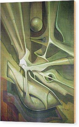Wl1989dc004 New Dimension Of The Light 26 X 37.6 Wood Print by Alfredo Da Silva