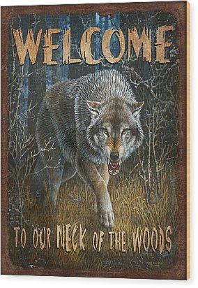 Wold Neck Of The Woods Wood Print by JQ Licensing