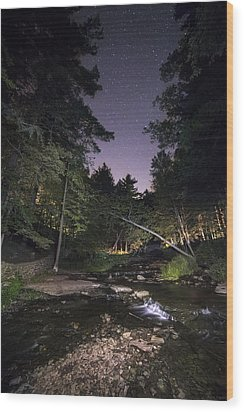 Wood Print featuring the photograph Wolf Creek Starry Night by Mark Papke