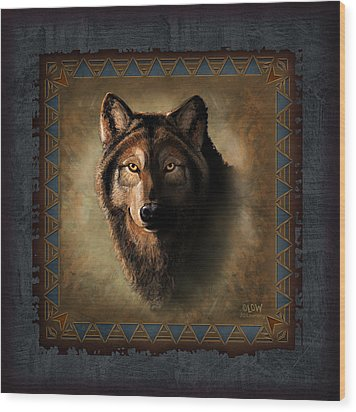 Wolf Lodge Wood Print by JQ Licensing