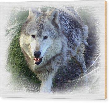 Wolf Wood Print by Marty Koch