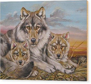 Wolf Nap Wood Print by Martin Katon