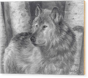 Wolf Number Six Wood Print