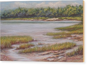 Wolfe's Neck State Park Wood Print