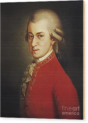 Wolfgang Amadeus Mozart, Austrian Wood Print by Photo Researchers
