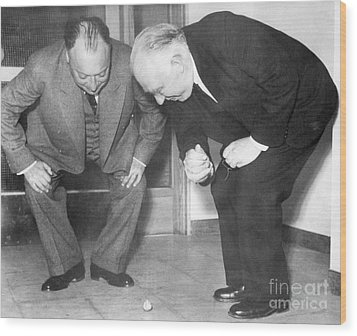 Wolfgang Pauli And Niels Bohr Wood Print by Margrethe Bohr Collection and AIP and Photo Researchers
