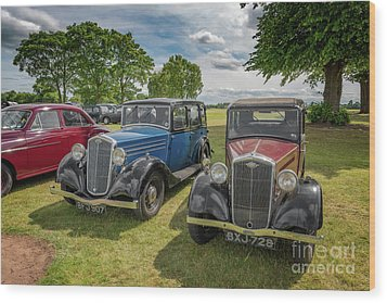 Wood Print featuring the photograph Wolseley Motors by Adrian Evans