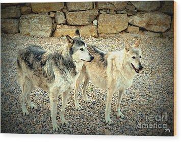 wolves XI Wood Print