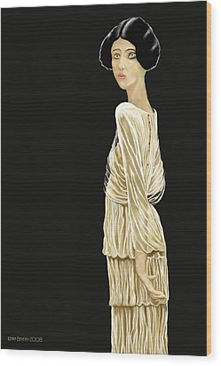 Woman 36 Wood Print by Kerry Beverly