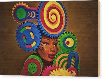 Woman Of Colors  Wood Print by Jeff  Gettis