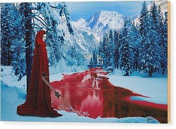 Woman Of Dark Desires Wood Print by John Paul Blanchette