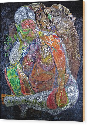 Woman Of Intuition Wood Print by Kristelle Ulrich
