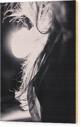 Woman Silhouette Wood Print by Stelios Kleanthous