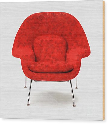 Womb Chair Mid Century Modern Wood Print by Edward Fielding