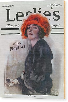 Women Voting, 1920 Wood Print by Granger