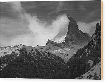 Wonder Of The Alps Wood Print
