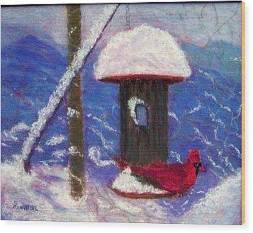 Wonder Of Winter Wood Print by Sandy Hemmer