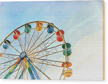 Wood Print featuring the painting Wonder Wheel by Edward Fielding