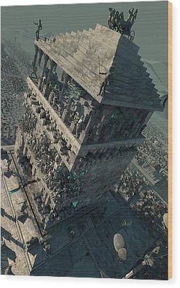 wonders Mausoleum at Halicarnassus Wood Print
