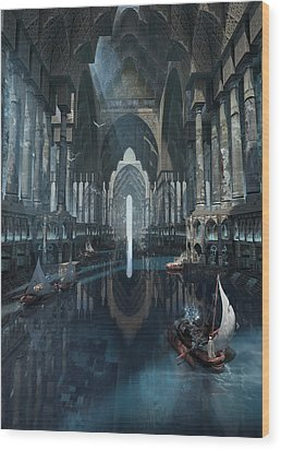 Wonders The Canal Of Isfahan Wood Print
