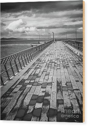 Wood Print featuring the photograph Wood And Pier by Perry Webster