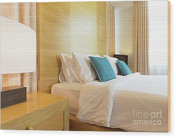 Wood Print featuring the photograph Wood Bed by Atiketta Sangasaeng