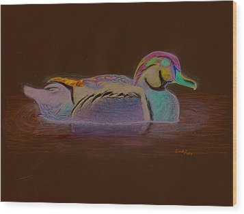 Wood Duck Wood Print by Cynthia  Lanka