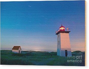Wood End Lighthouse Provincetown Cape Cod Wood Print by Matt Suess