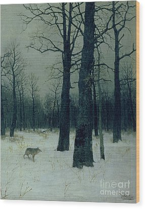 Wood In Winter Wood Print by Isaak Ilyic Levitan