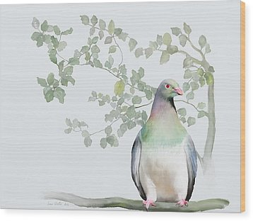 Wood Pigeon Wood Print