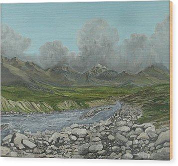 Wood River Storm Wood Print by Amy Reisland-Speer