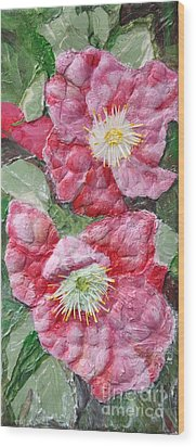 Wood Print featuring the painting Wood Roses by Terri Thompson