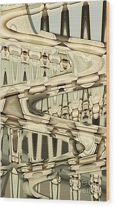 Wood Sine Wood Print by Ron Bissett