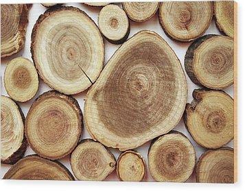 Wood Slices- Art By Linda Woods Wood Print by Linda Woods