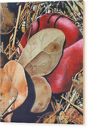 Woodbine's Fall Wood Print