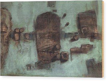 Symbol Mask Painting - 05 Wood Print