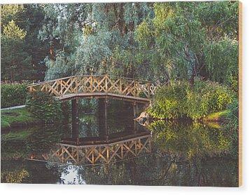 Wood Print featuring the photograph Wooden Bridge by Ari Salmela