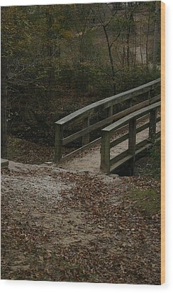 Wood Print featuring the photograph Wooden Bridge by Kim Henderson