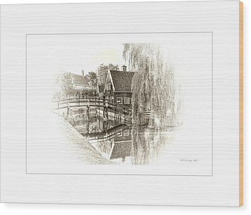 Wooden Bridge Wood Print by Maciek Froncisz