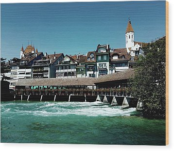 Wood Print featuring the photograph Wooden Bridge by Mimulux patricia no No