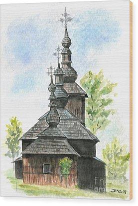 Wooden Church Wood Print by Jana Goode