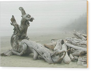 Wooden Dragon Wood Print