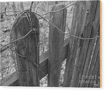 Wooden Fence Wood Print by Jeff Breiman